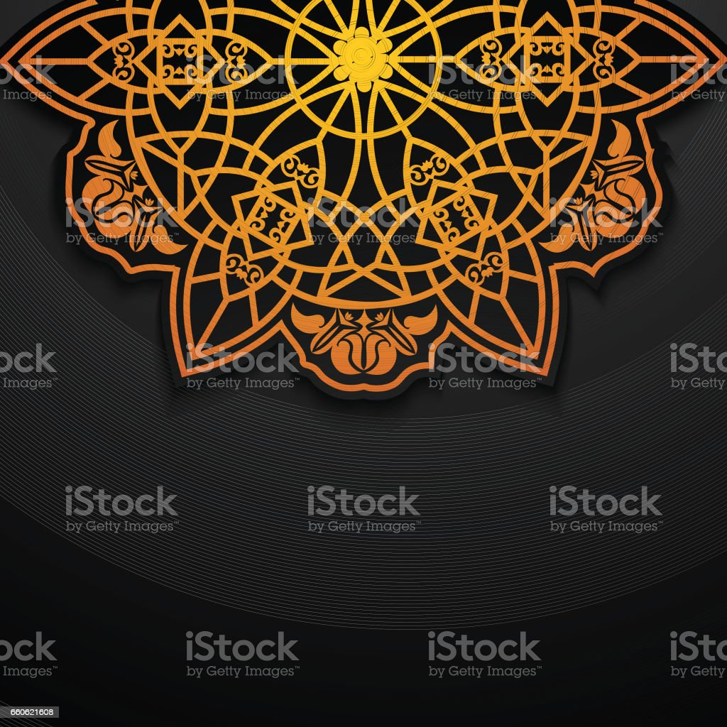 Beautiful golden floral design. royalty-free beautiful golden floral design stock vector art & more images of arabia
