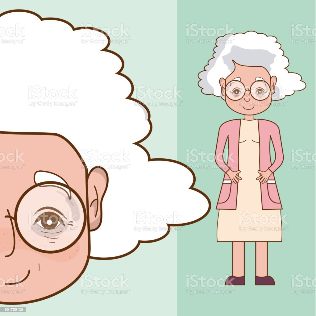 Beautiful grandmother cartoon royalty-free beautiful grandmother cartoon stock vector art & more images of adult