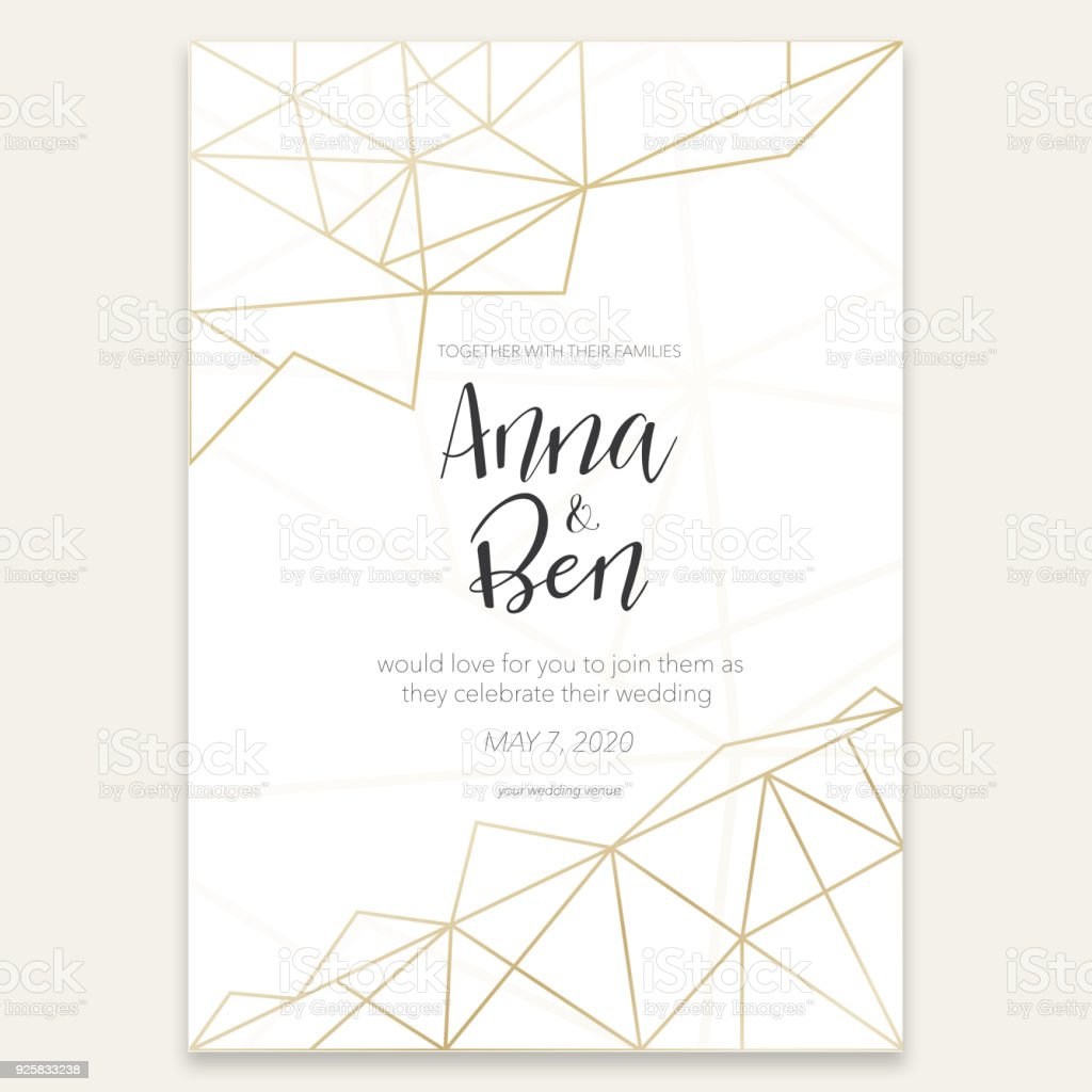 Beautiful graphic wedding invitation vector art illustration