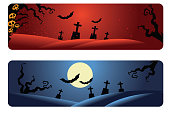 Beautiful Halloween background/banners