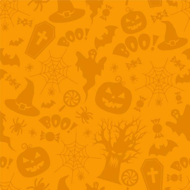 bildbanksillustrationer, clip art samt tecknat material och ikoner med vackra halloween sömlösa mönster vektor - halloween background