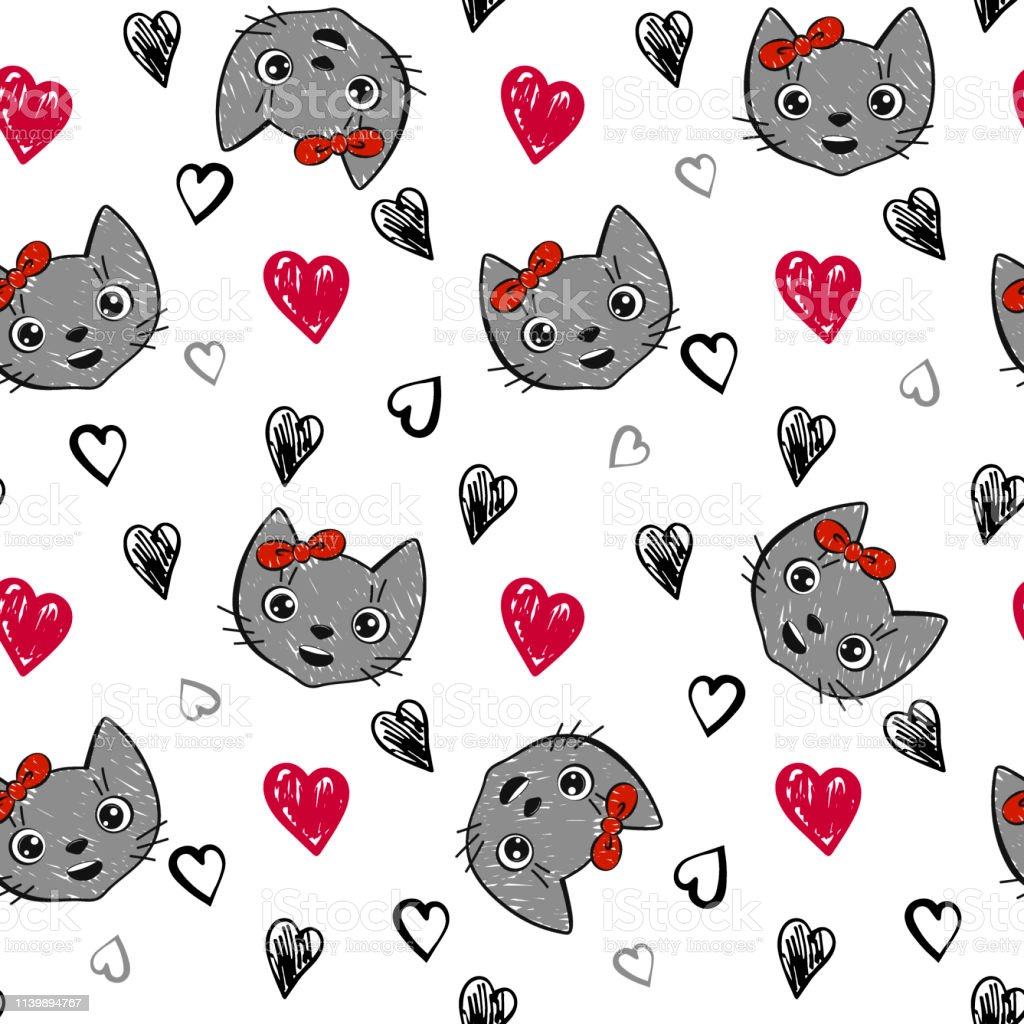 cute red black and white wallpaper