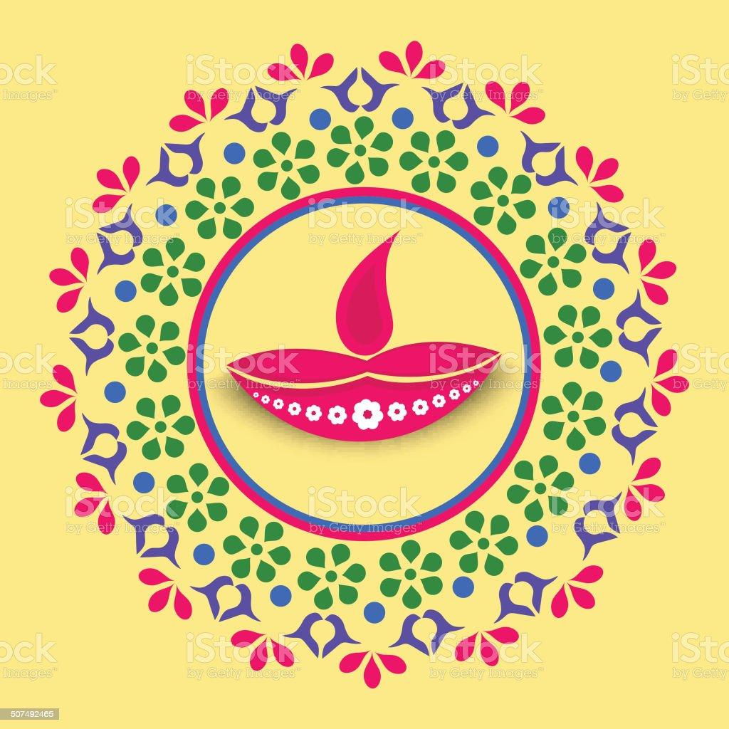 Beautiful happy diwali greeting card design stock vector art more beautiful happy diwali greeting card design royalty free beautiful happy diwali greeting card design m4hsunfo