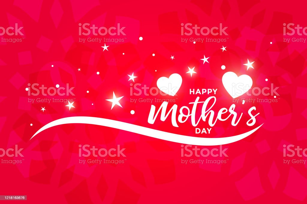 Beautiful Happy Mothers Day Greeting Or Wallpaper Design Stock Illustration Download Image Now Istock