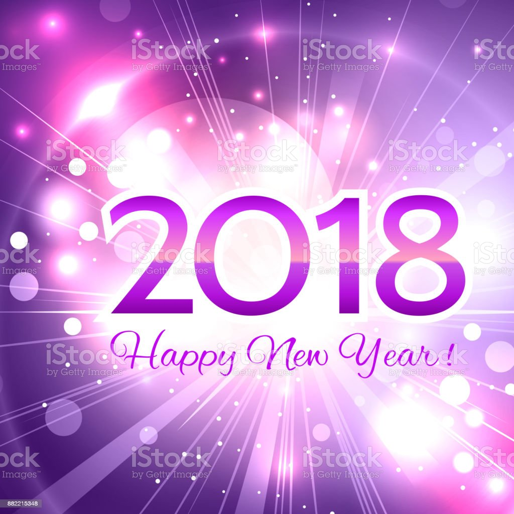 beautiful happy new year 2018 background royalty free beautiful happy new year 2018 background stock