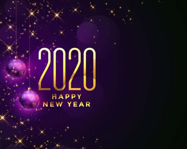 schöne glücklich neues Jahr 2020 funkelt Hintergrund-Design – Vektorgrafik