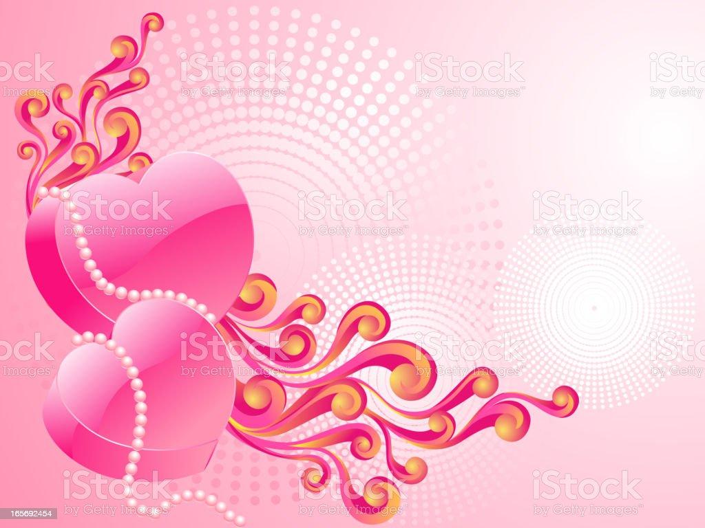 Beautiful Heart Background royalty-free stock vector art