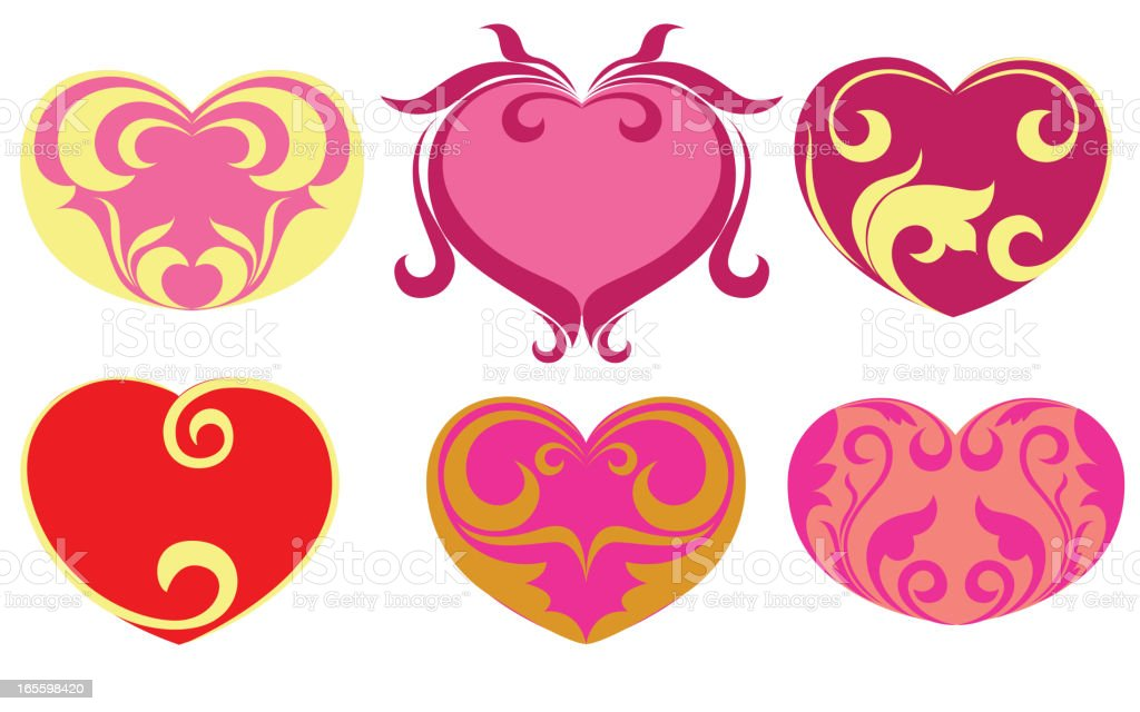 Beautiful heart icons/Design elements royalty-free beautiful heart iconsdesign elements stock vector art & more images of art and craft