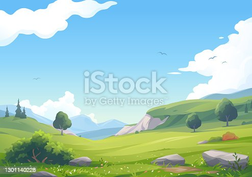 istock Beautiful Hilly Landscape 1301140228