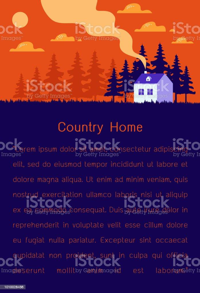 Beautiful Home modern flat design vector illustration vector art illustration
