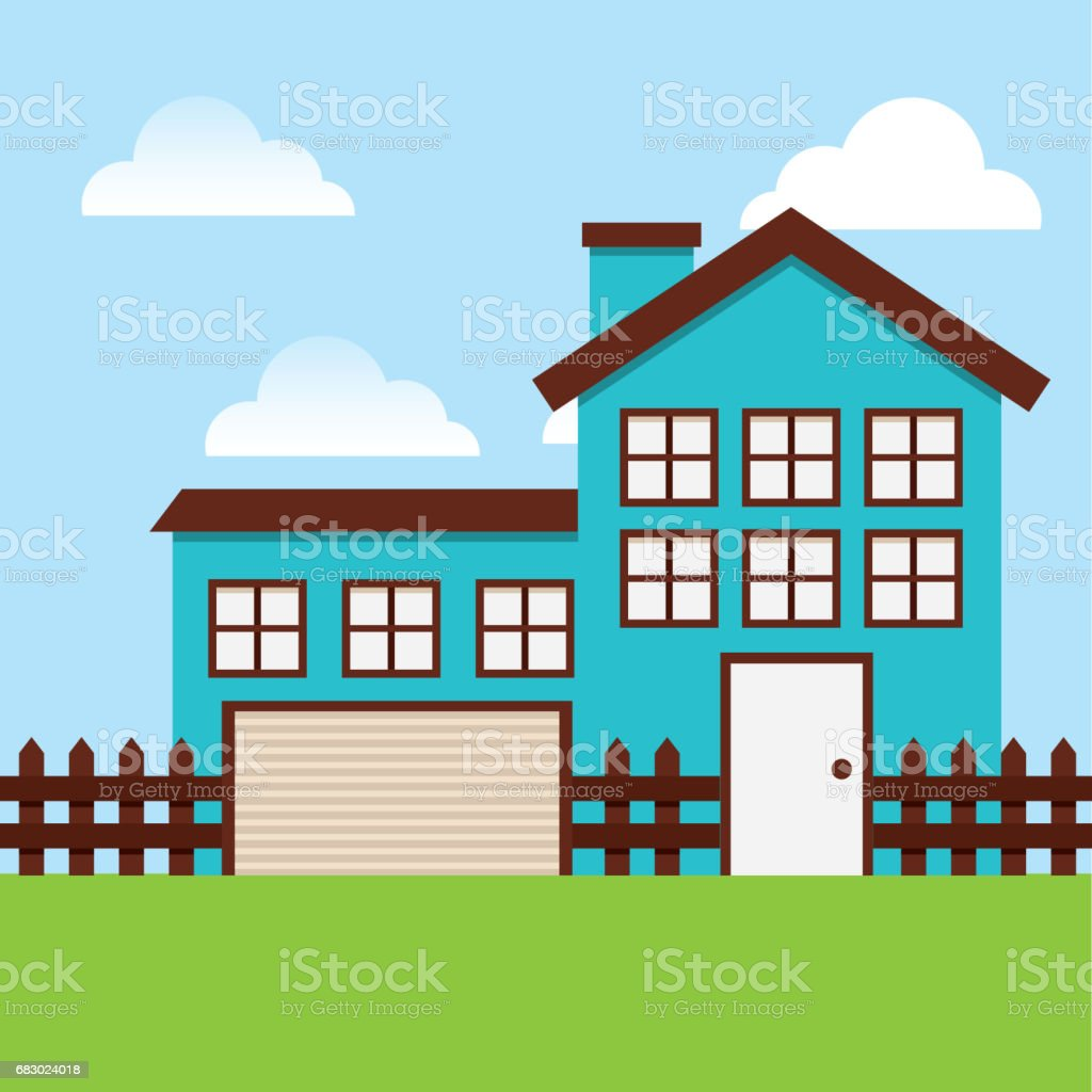 Beautiful House Exterior Icon Stock Illustration Download Image Now Istock