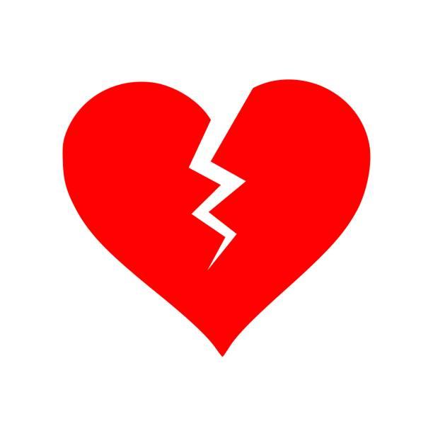 stockillustraties, clipart, cartoons en iconen met mooie icon van gebroken hart vector - liefdesverdriet