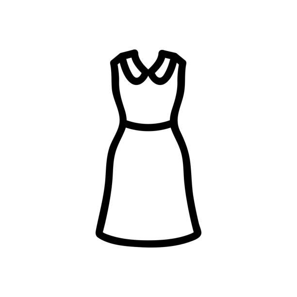 illustrations, cliparts, dessins animés et icônes de belle robe vectorielle d'icône. illustration de symbole de contour d'isolement - abstract mirror