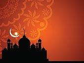Beautiful Islamic background design.