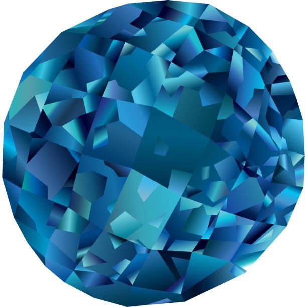 Hermoso topacio azul aislado - ilustración de arte vectorial