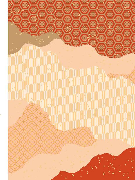 beautiful japanese pattern pattern (red) - 特別な日点のイラスト素材/クリップアート素材/マンガ素材/アイコン素材