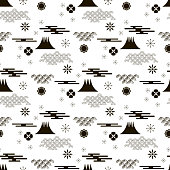Beautiful japanese seamless  pattern