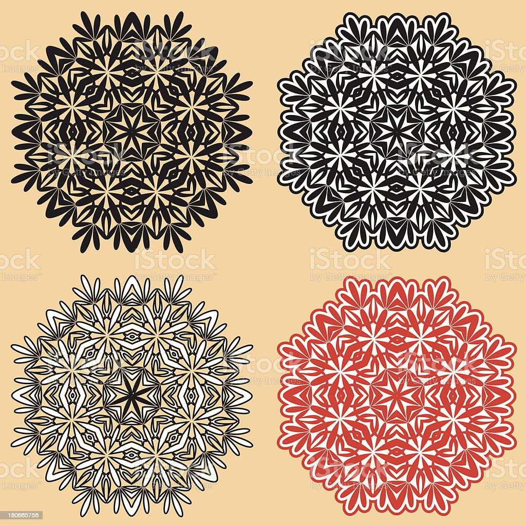 Beautiful lace pattern. The circular background. royalty-free beautiful lace pattern the circular background stock vector art & more images of backgrounds