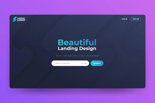 Beautiful Landing Page Vector Template Design vector art illustration