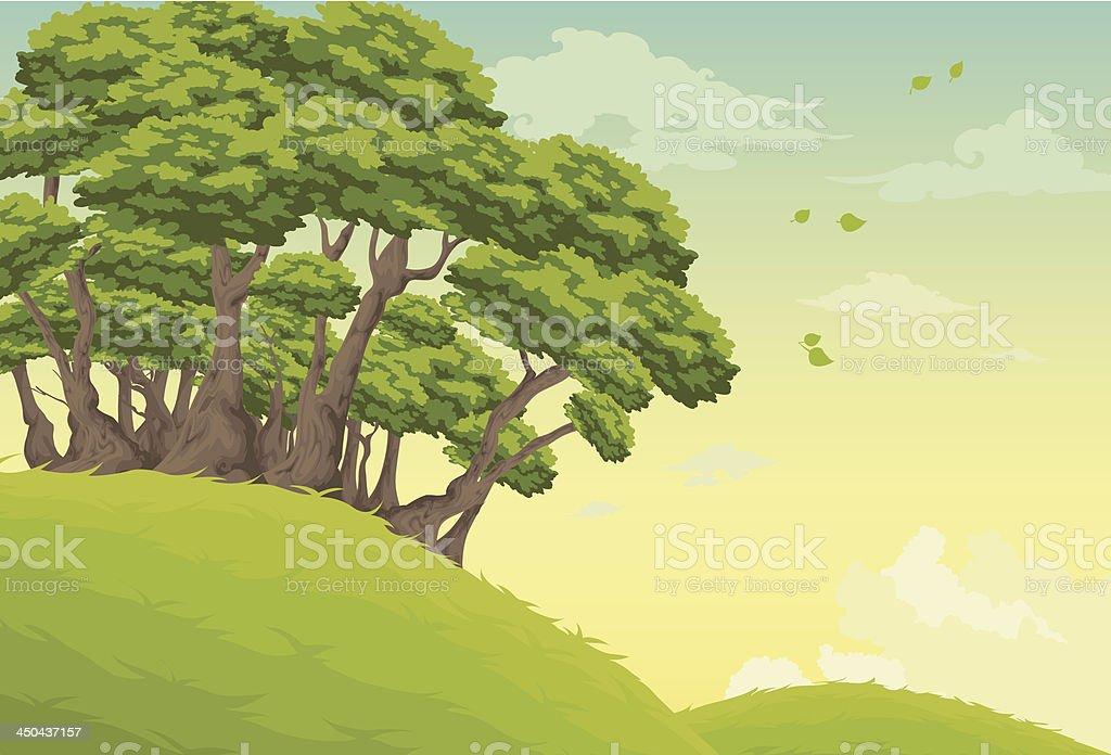 Beautiful Landscape Background vector art illustration