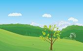 Beautiful Landscape - Illustration