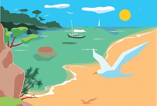 Beautiful landscape in the Mediterranean Sea