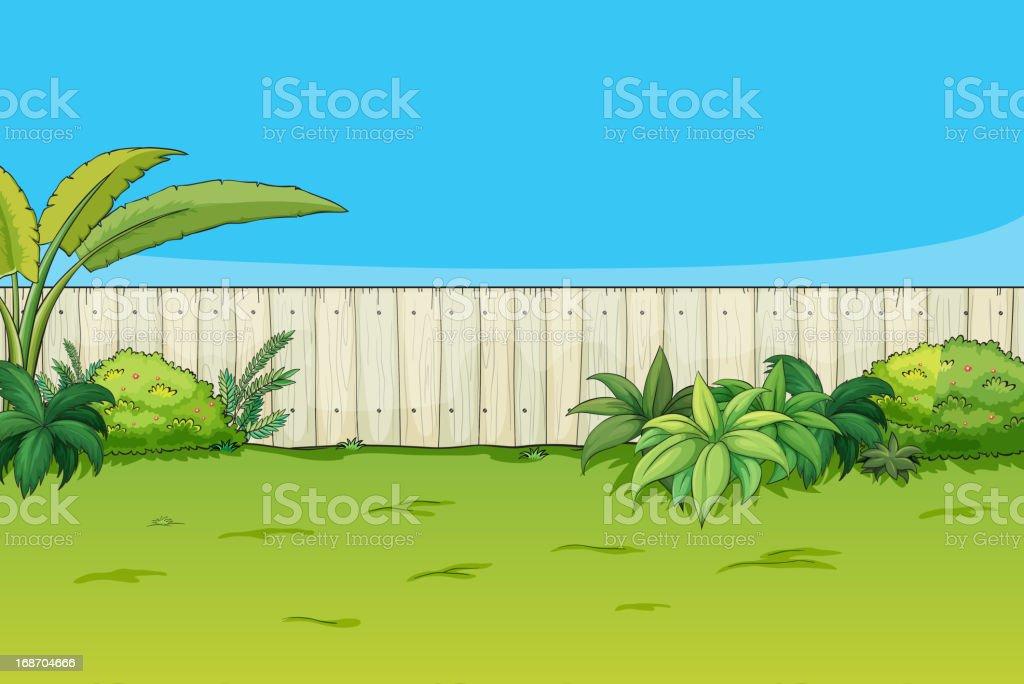 Beautiful landscape vector art illustration