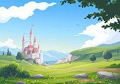 istock Beautiful Landscape With Castle 1301713824