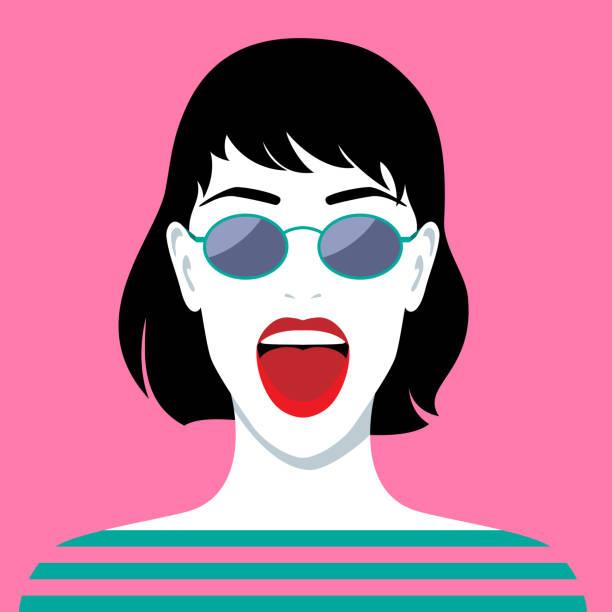 Beau rire femme - Illustration vectorielle