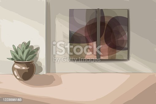 Beautiful Living Room Drawing