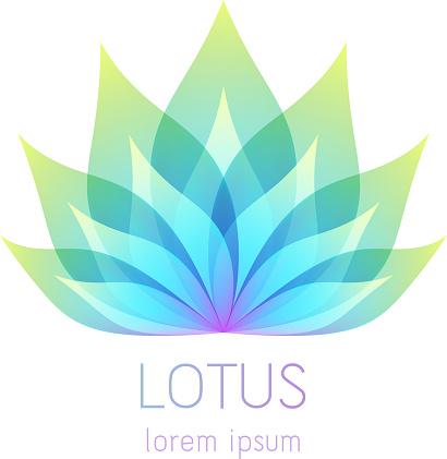 Beautiful lotus flower symbol.