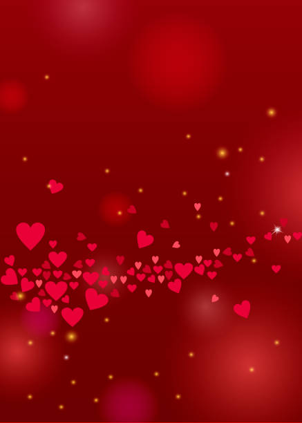 beautiful love background with hearts and sparkles for valentines day design - valentine card stock illustrations