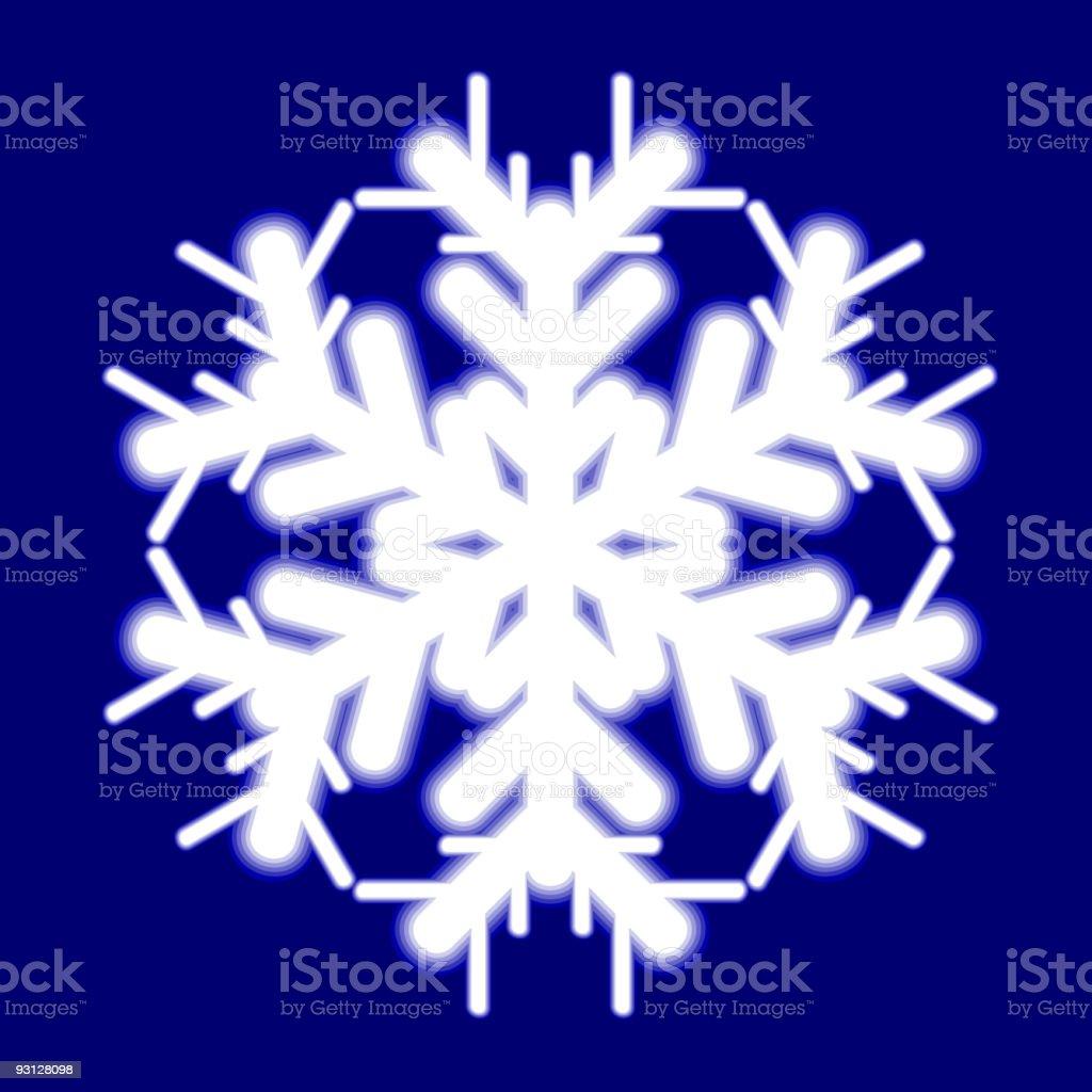 Beautiful luminous snowflake. royalty-free stock vector art