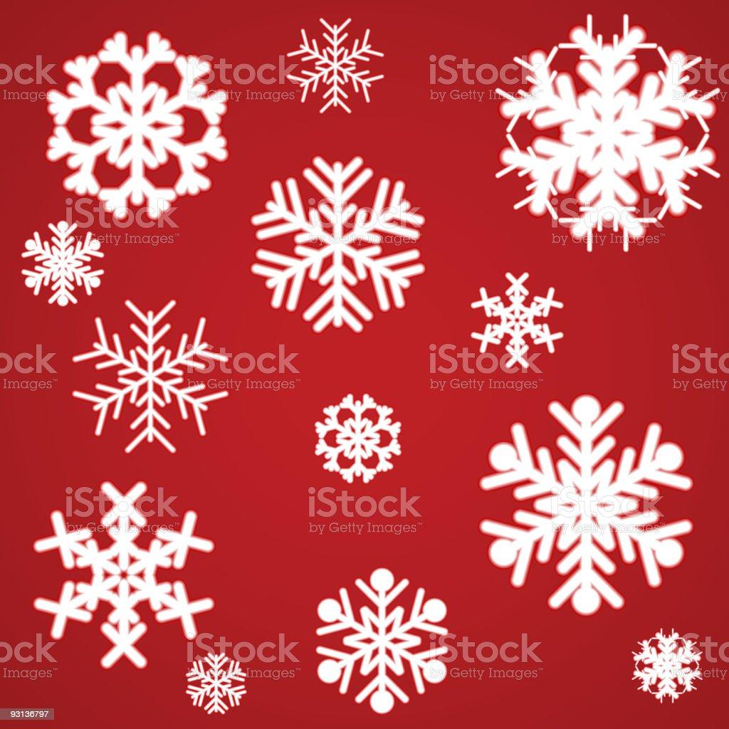 Beautiful luminous snowflakes. royalty-free stock vector art