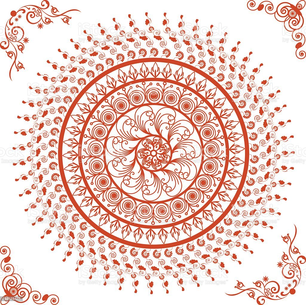 Beautiful Mandala(Circle) Design royalty-free beautiful mandala design stock vector art & more images of circle