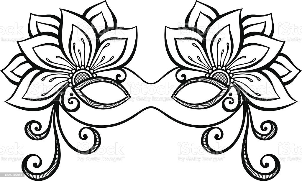 royalty free black and white masquerade mask clip art vector images rh istockphoto com