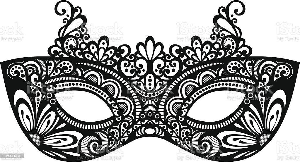Beautiful Masquerade Mask (Vector) vector art illustration