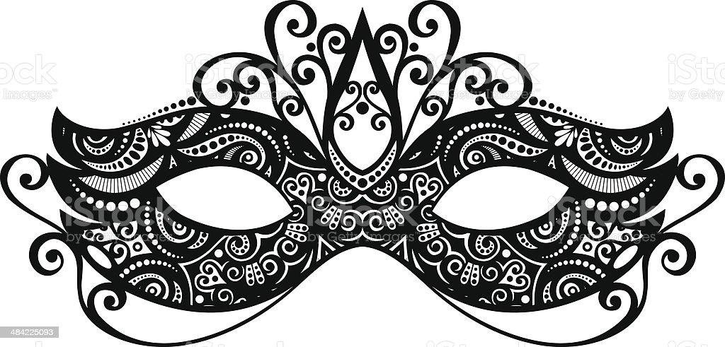 Beautiful Masquerade Mask vector art illustration