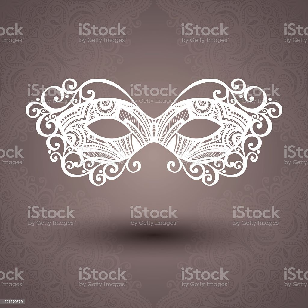 Beautiful Masquerade Mask (Vector) vector art illustration