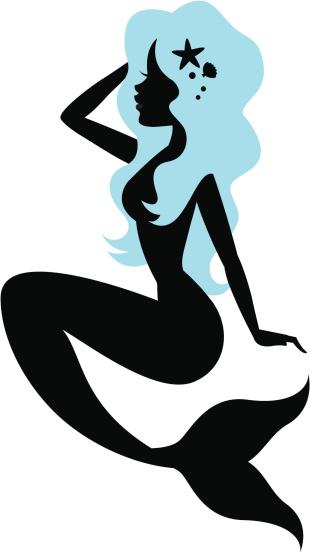 Beautiful mermaid Silhouette