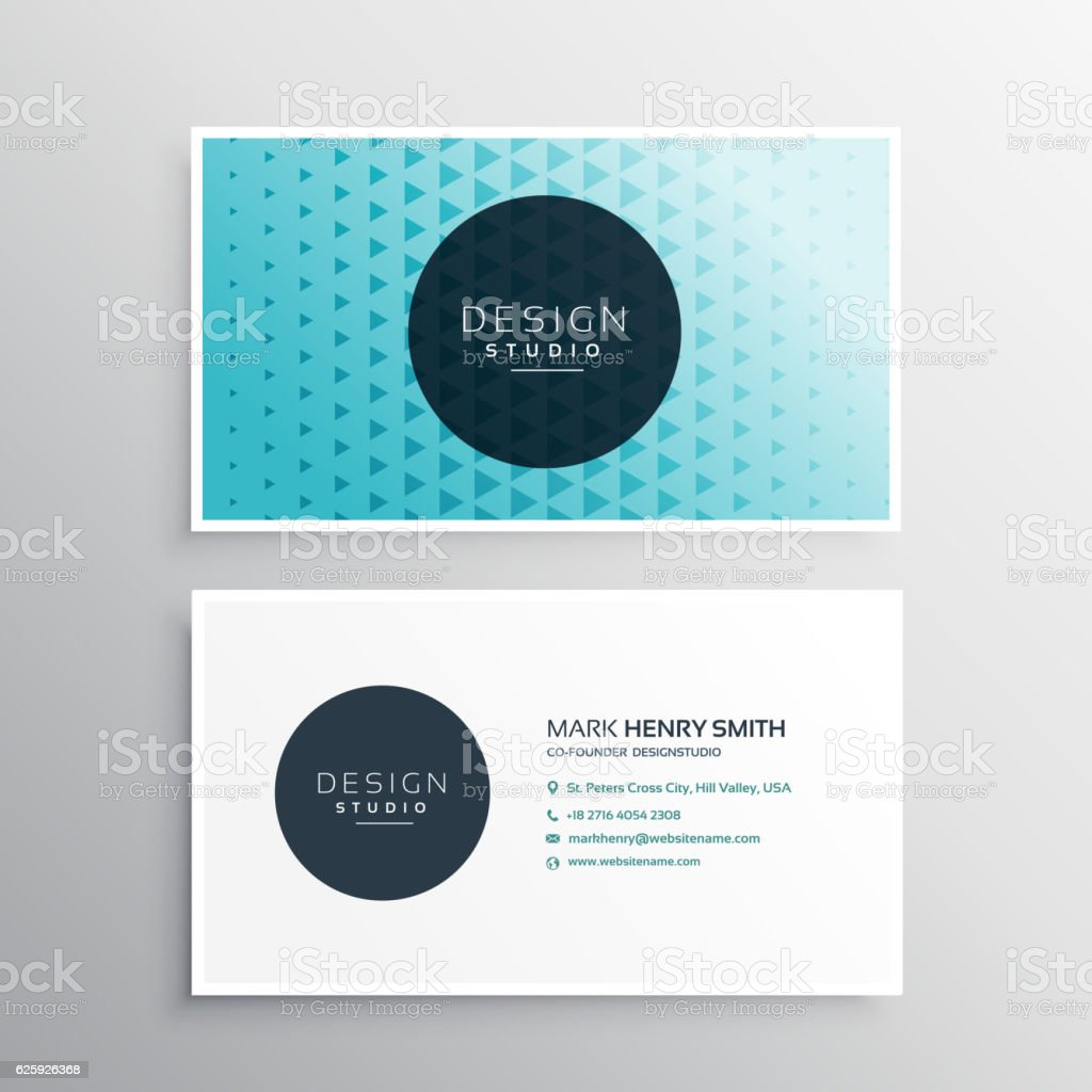 Beautiful Modern Blue Business Card Template Stock Vector Art ...