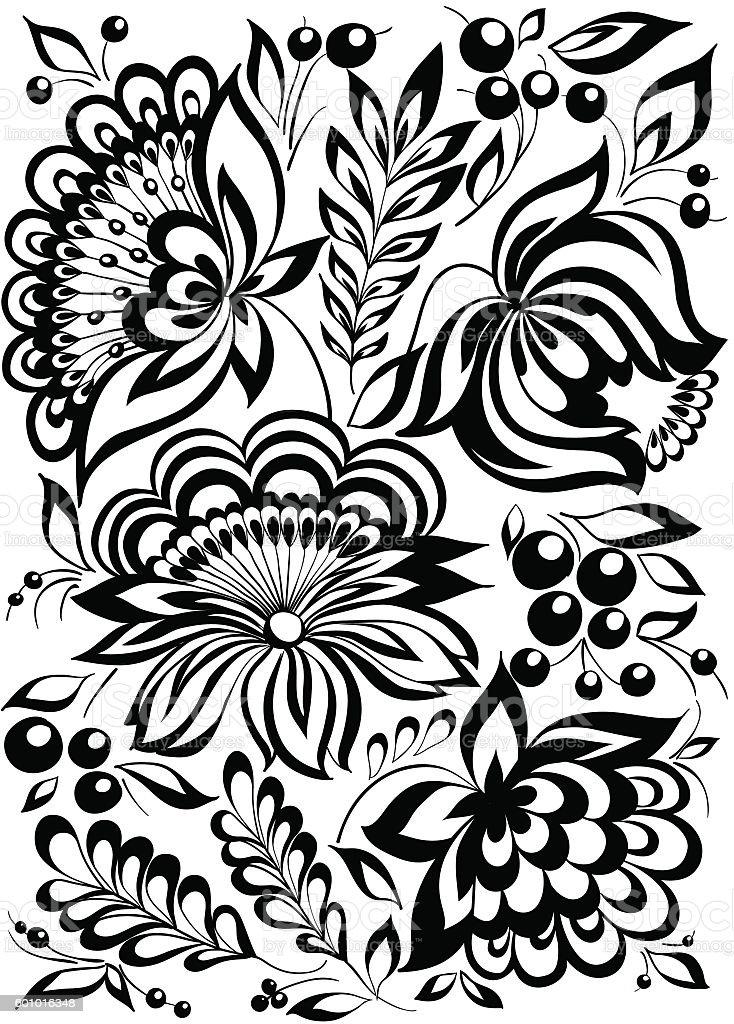 Beautiful monochrome black and white flowers and leaves isolated beautiful monochrome black and white flowers and leaves isolated royalty free beautiful monochrome black mightylinksfo