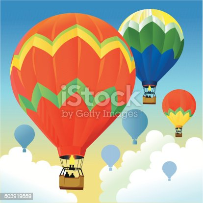 istock Beautiful Morning With Hot Air Balloons 503919559
