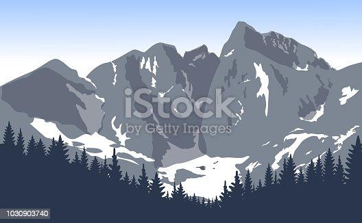 Nature background. Vector illustration.