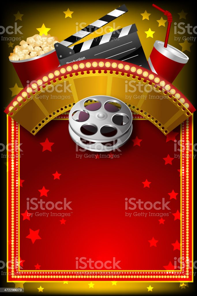 Beautiful Movie Background with Marquee display royalty-free beautiful movie background with marquee display stock vector art & more images of abstract