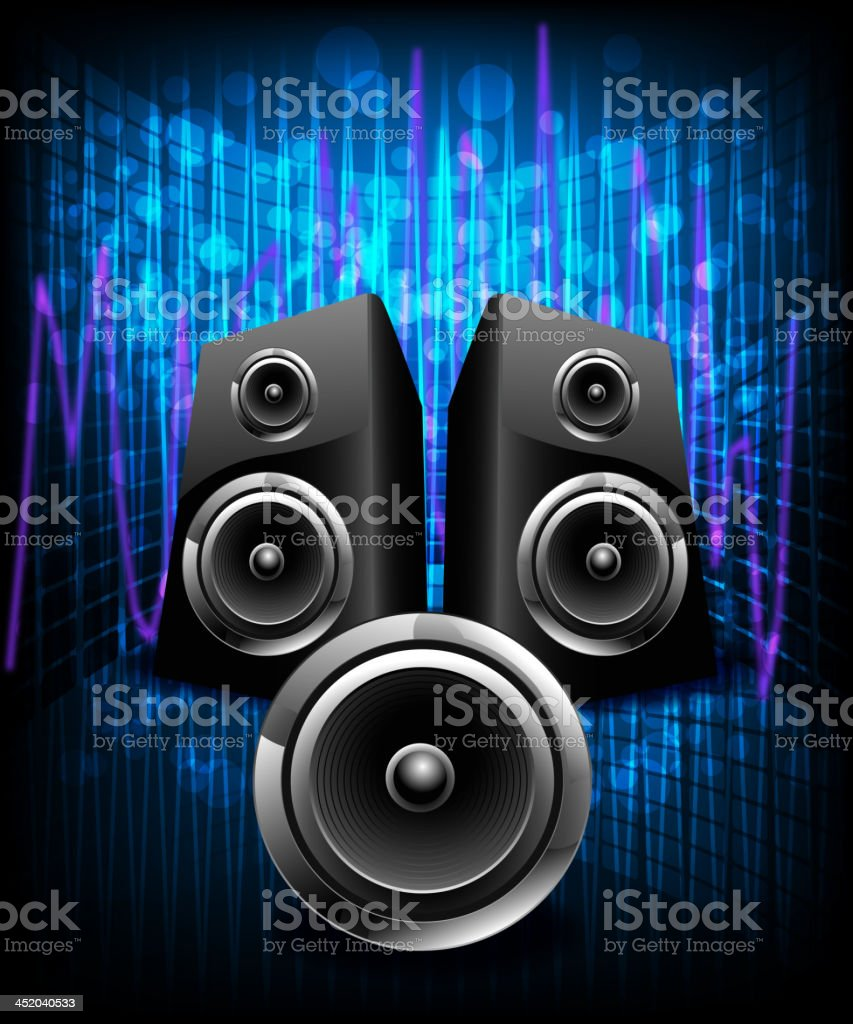 Beautiful Music Background royalty-free stock vector art