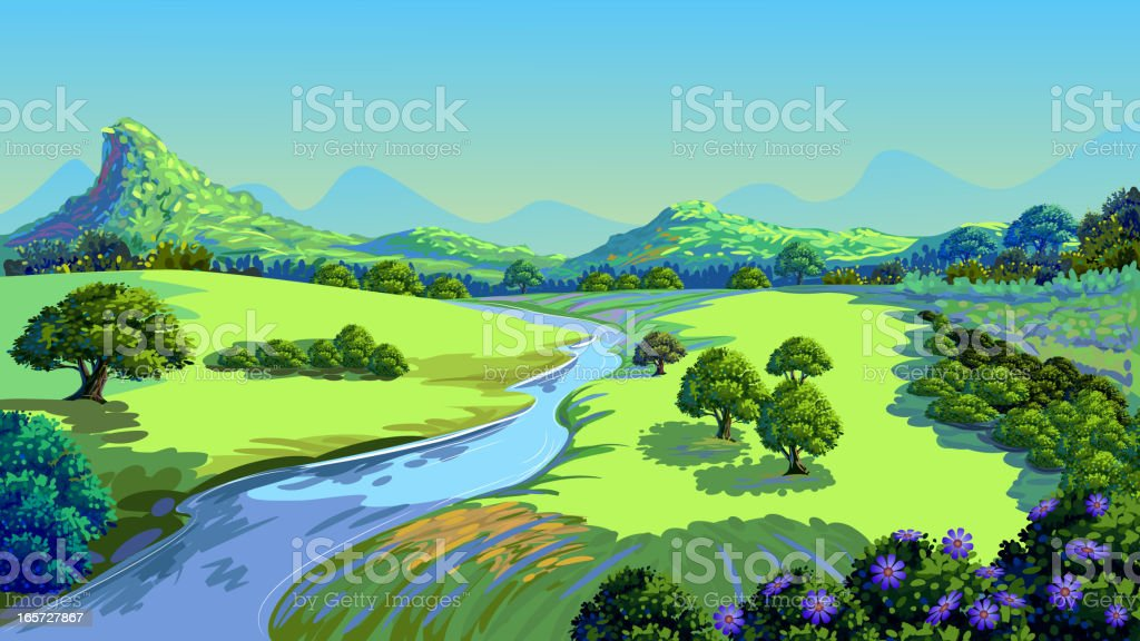 Beautiful Nature royalty-free stock vector art