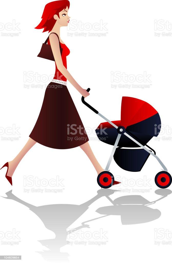 Beautiful new mom royalty-free stock vector art