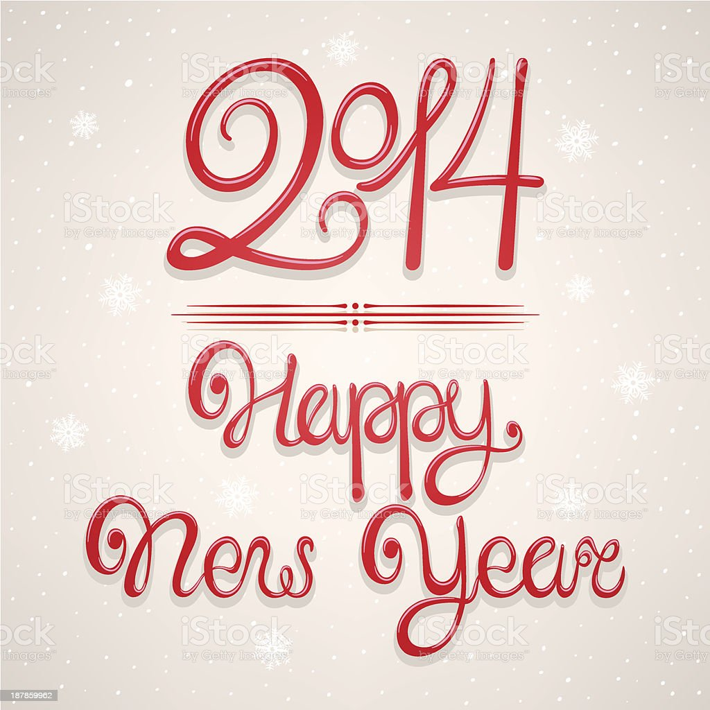 beautiful New Year card royalty-free stock vector art