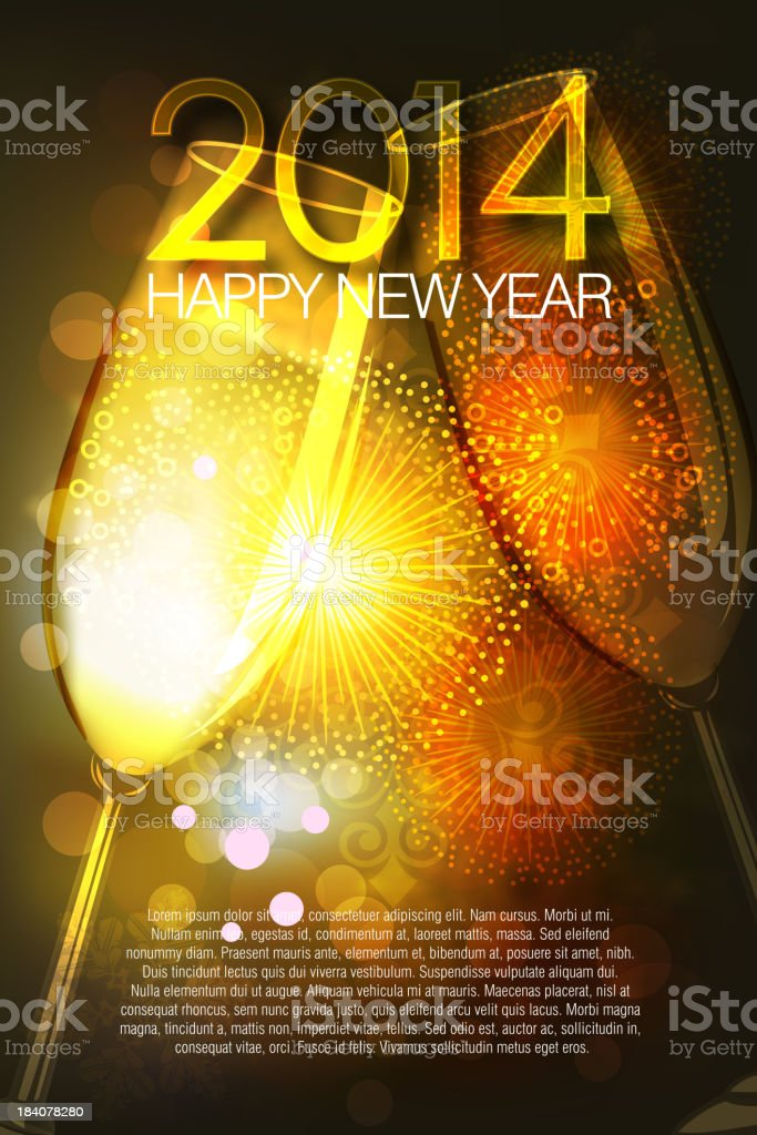 2014, Beautiful New Year Celebration Background royalty-free 2014 beautiful new year celebration background stock vector art & more images of 2014